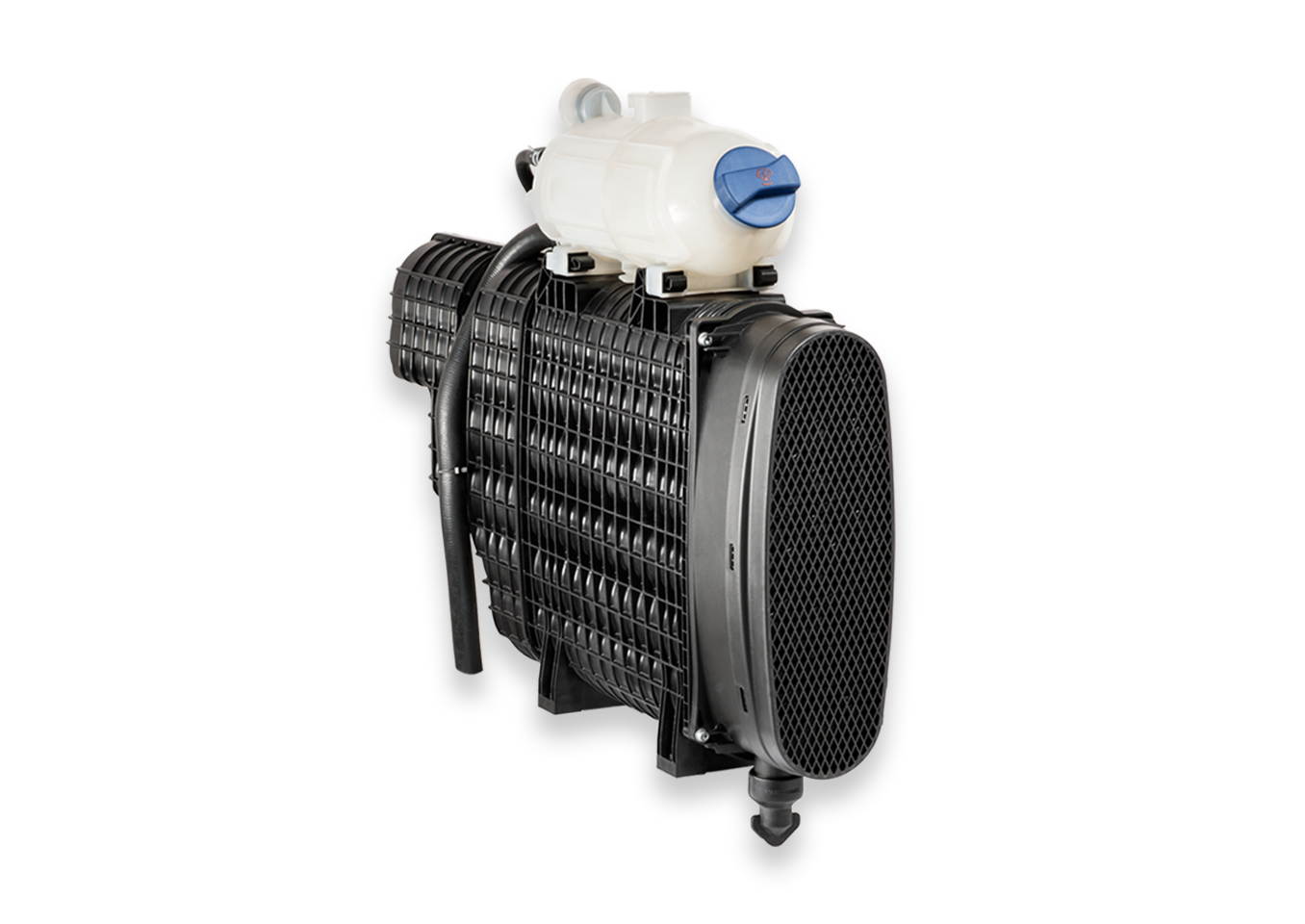 MANN+HUMMEL Exalife air cleaner system with coolant reservoir on top